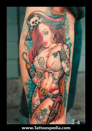 Pirate Girl Pin Up Tattoo Tattoos
