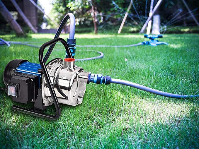 Fluentpower 1 Hp Portable Stainless Steel Lawn Sprinkling Pump Electric Water Pump Shallow Well Booster Pu In 2020 Electric Water Pump Irrigation Pumps Sprinkler Pump