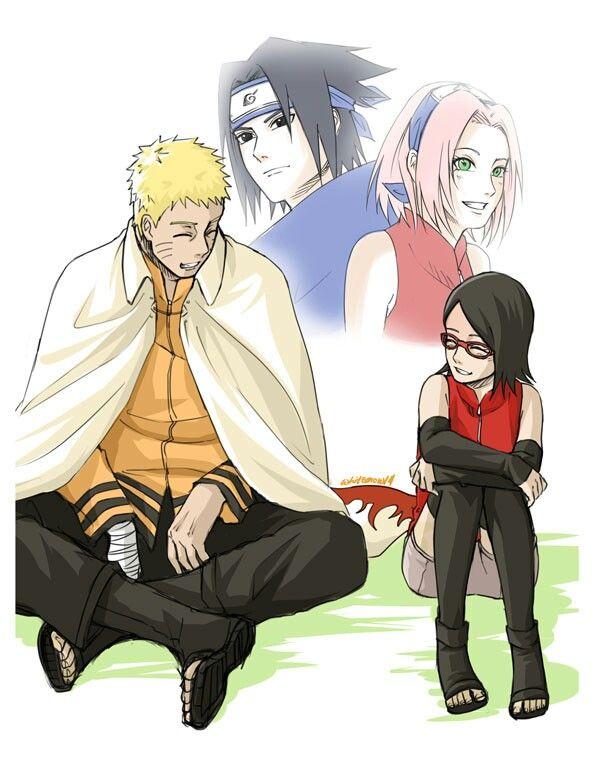 Just Like Her Mom Dad Sasusaku Anime Naruto Naruto Gaiden