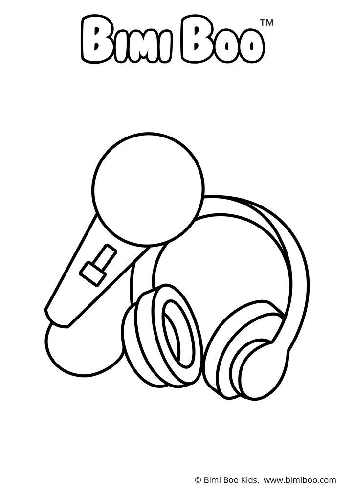 free coloring book | printable coloring pages | Music | Bimi ...