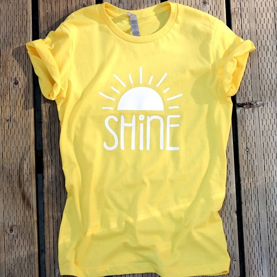 83b010853963 Shine Yellow Shirt, Christian T Shirts for Women, Christian T Shirts,  Christian Shirts, Cute Shirts