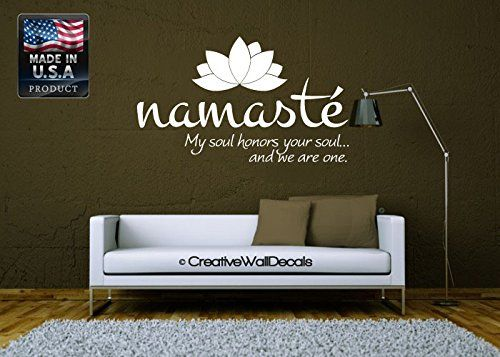 Wall Decal Vinyl Sticker Decals Art Decor Design Lotus Words Soul Namaste yin yang Buddha Ganesha Dorm Office Yoga Modern Bedroom (r1094) CreativeWallDecals http://www.amazon.com/dp/B00MFMH3LK/ref=cm_sw_r_pi_dp_KxTJwb08X6Z5M