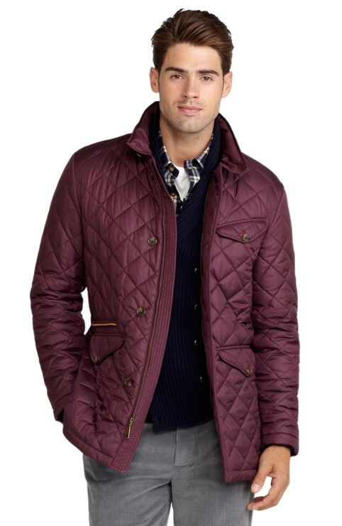 Quilted jacket Brooks Brothers in burgundy. Quilted jacket Brooks ...