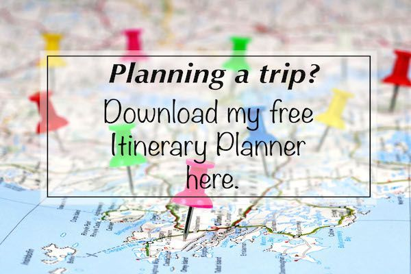 Your FREE downloadable Itinerary Planner Itinerary planner
