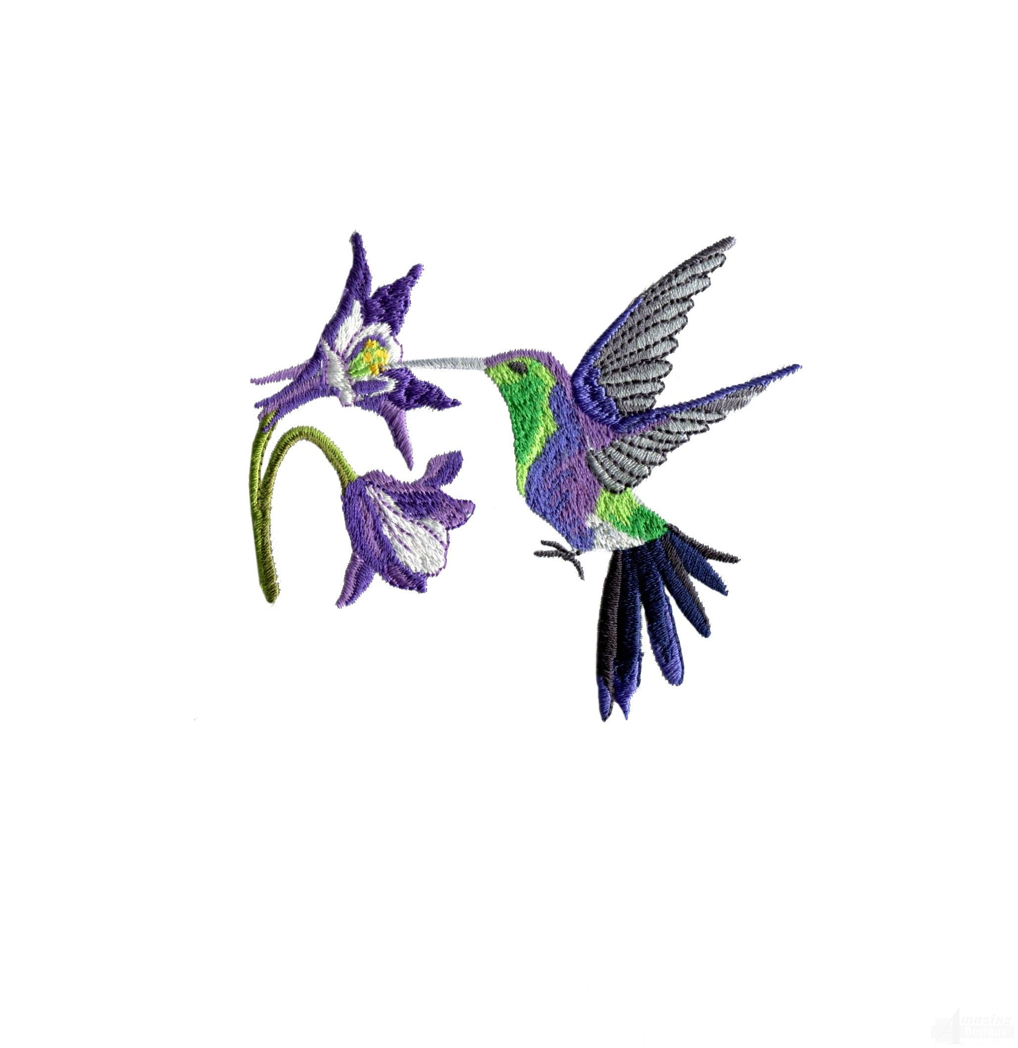 free hummingbird embroidery designs