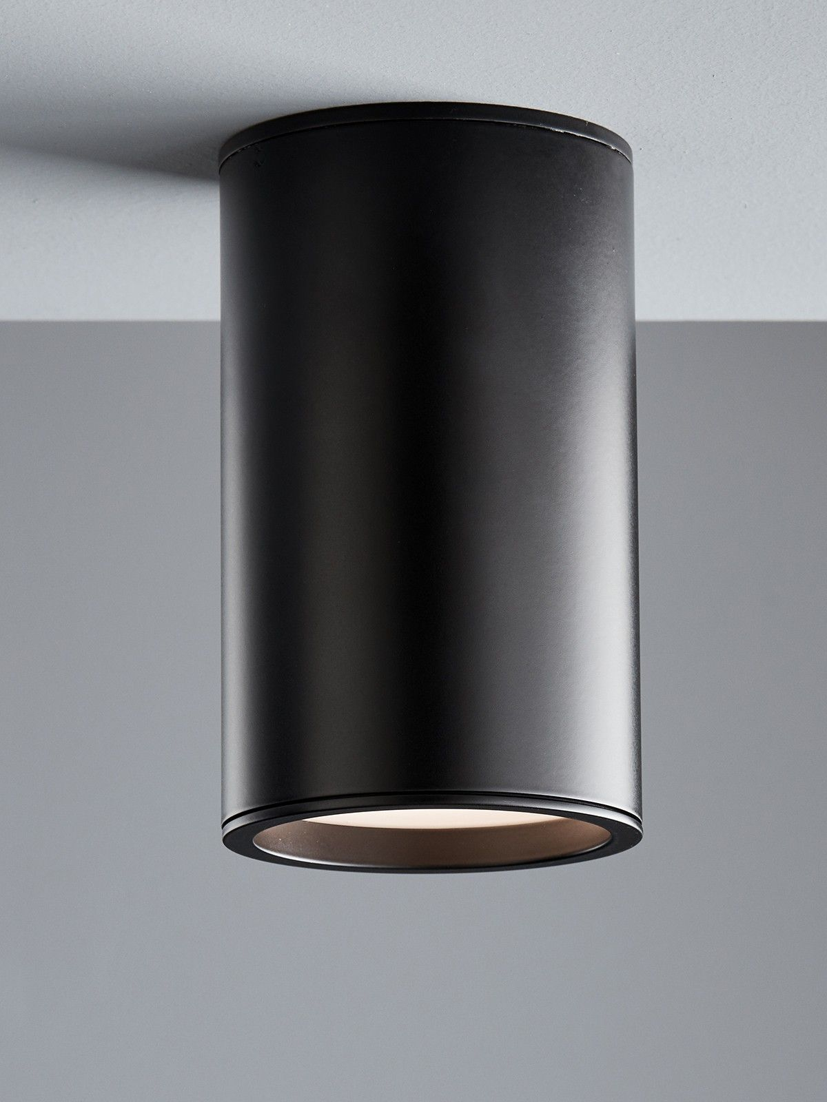 Ledlux Surface 150mm Dimmable Surface Mounted Downlight In Black Downlights Pillar Lights Interior Lighting