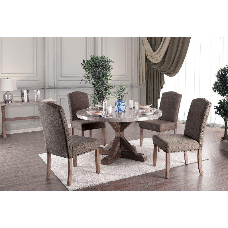 25+ Rustic grey dining table set round Various Types