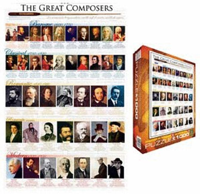 GREAT COMPOSERS PUZZLE & POSTER Set - Set includes: Large ...