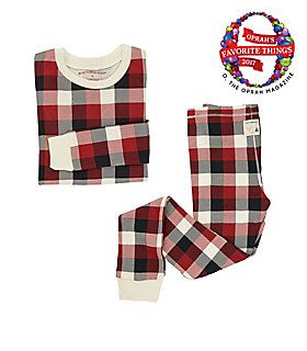 Big Kids Buffalo Plaid Organic Cotton Pajamas  ffb9ce93b
