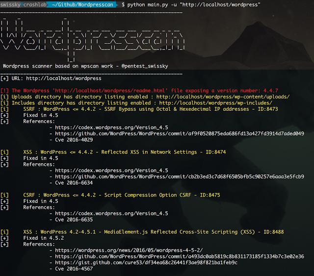 Wordpresscan Wpscan Rewritten In Python Some Wpseku Ideas