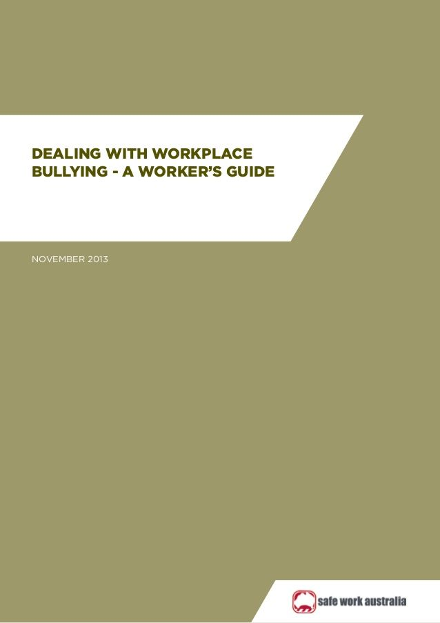Workers guide-workplace-bullying by Wayne Carney via slideshare - sample policy manual template