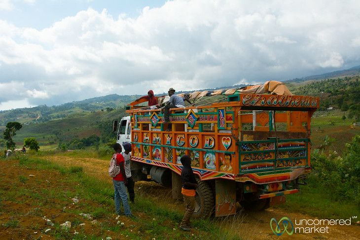 Truck in the Hills of Haiti