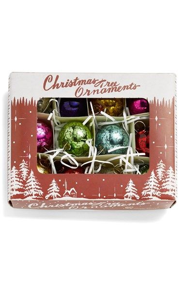 Bethany Lowe Designs Small Mercury Glass Ornament (Set of 12) available at #Nordstrom
