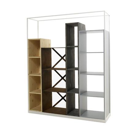 inspiration mobilier bureau secondaire cr er un mur cloison amovible avec biblioth que. Black Bedroom Furniture Sets. Home Design Ideas