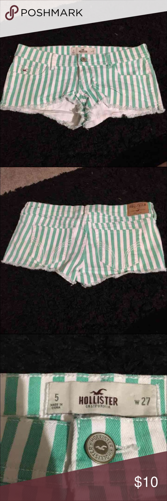 Hollister shorts Only worn a couple times size 5 Hollister Shorts