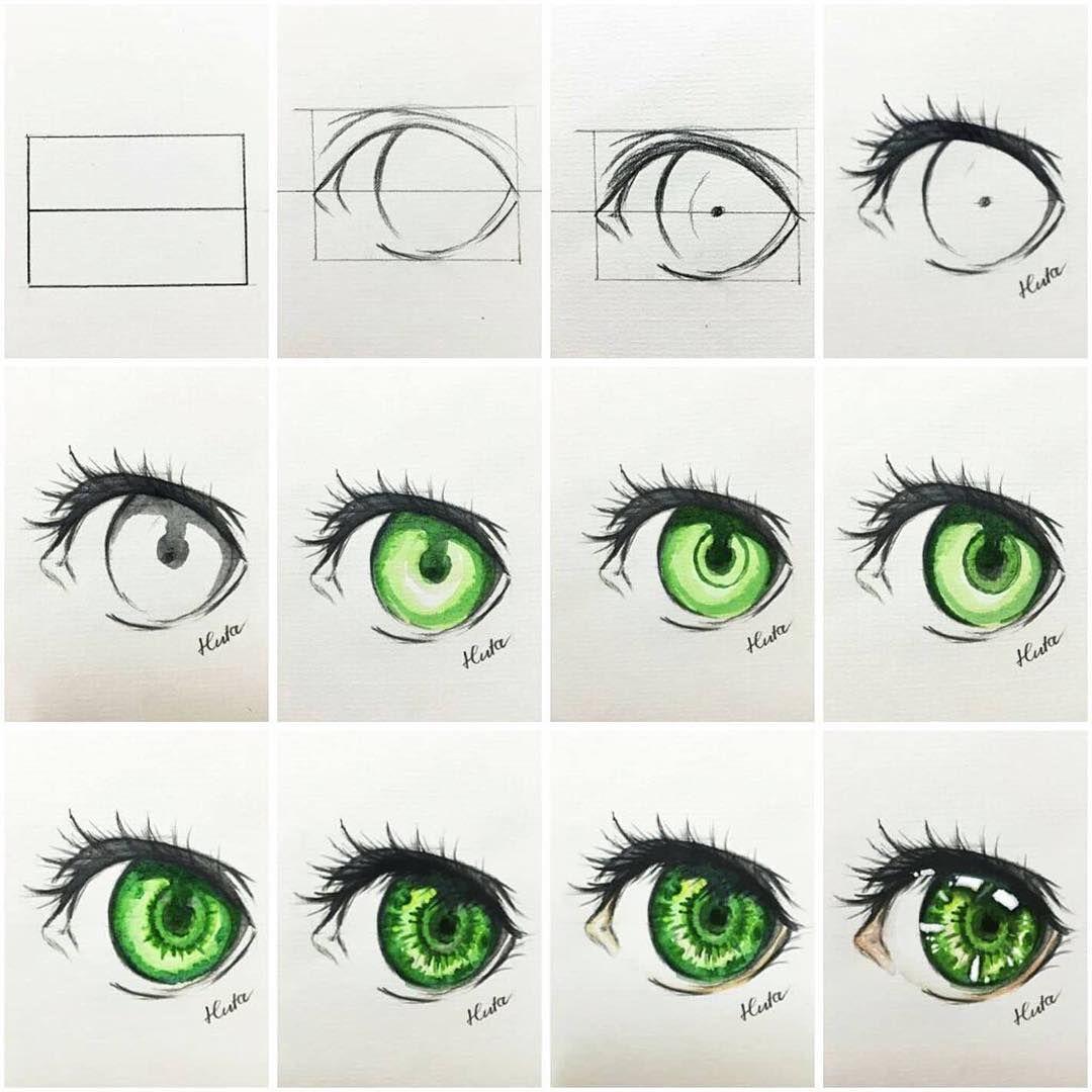 Tut draw eye.... tutorial eyedrawing watercolor Nghệ