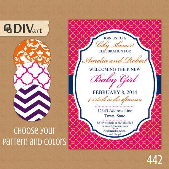 PRINTABLE 5x7 Baby Shower Invite Bridal Shower By DIVart