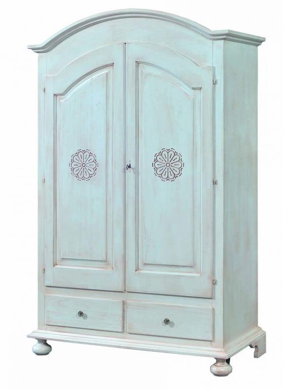 armadio 2 ante in legno shabby chic laccato bianco invecchiato ... - Arredamento Classico E Shabby