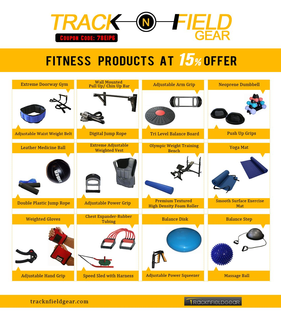 Fitness Products at 15 OFF Find
