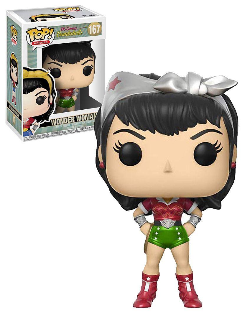 Funko Pop DC Wonder Woman Bombshells #167 Vinyl Figure Collectible Toy