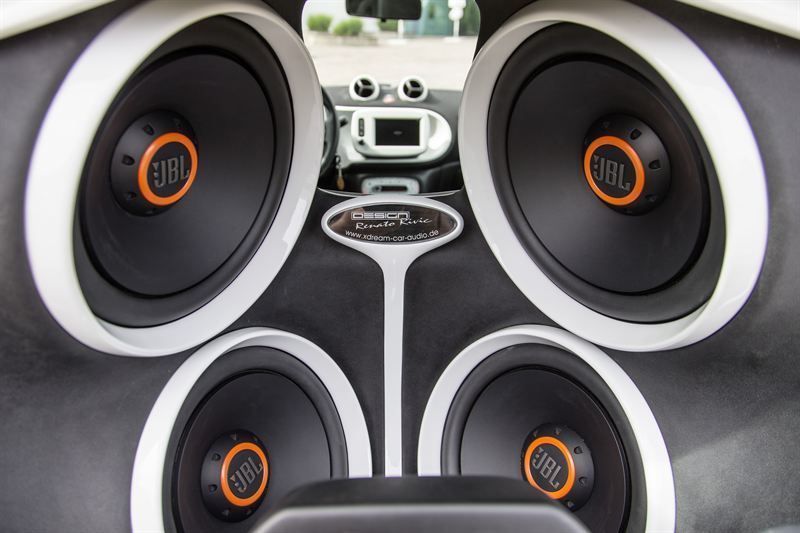 Smart For Two Outfitted With Jbl Sound System To Create Mobile