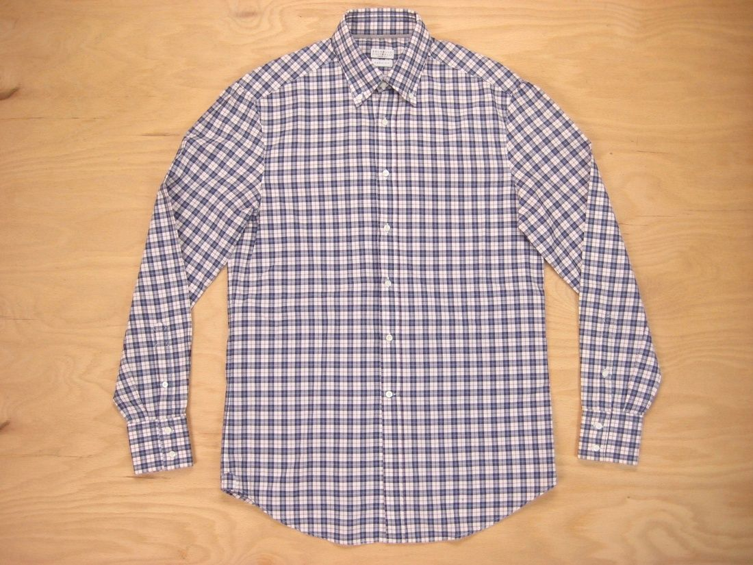 Brunello Cucinelli Brunetto Cucinelli Cotton Check Basic Fit Button Down Shirt S Size S $113 - Grailed