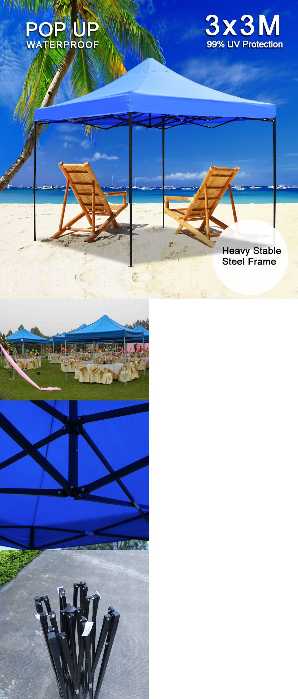 Framing A 10x10 Room: Awnings And Canopies 180992: Outdoor Commercial Ez Pop Up