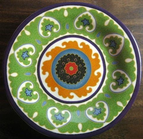 Decorative Dishes - Urban Chic Exotic Green Orange Purple Medallion Scroll Ikat Print Plate M  sc 1 st  Pinterest & Urban Chic Exotic Green Orange Purple Medallion Scroll Ikat Print ...