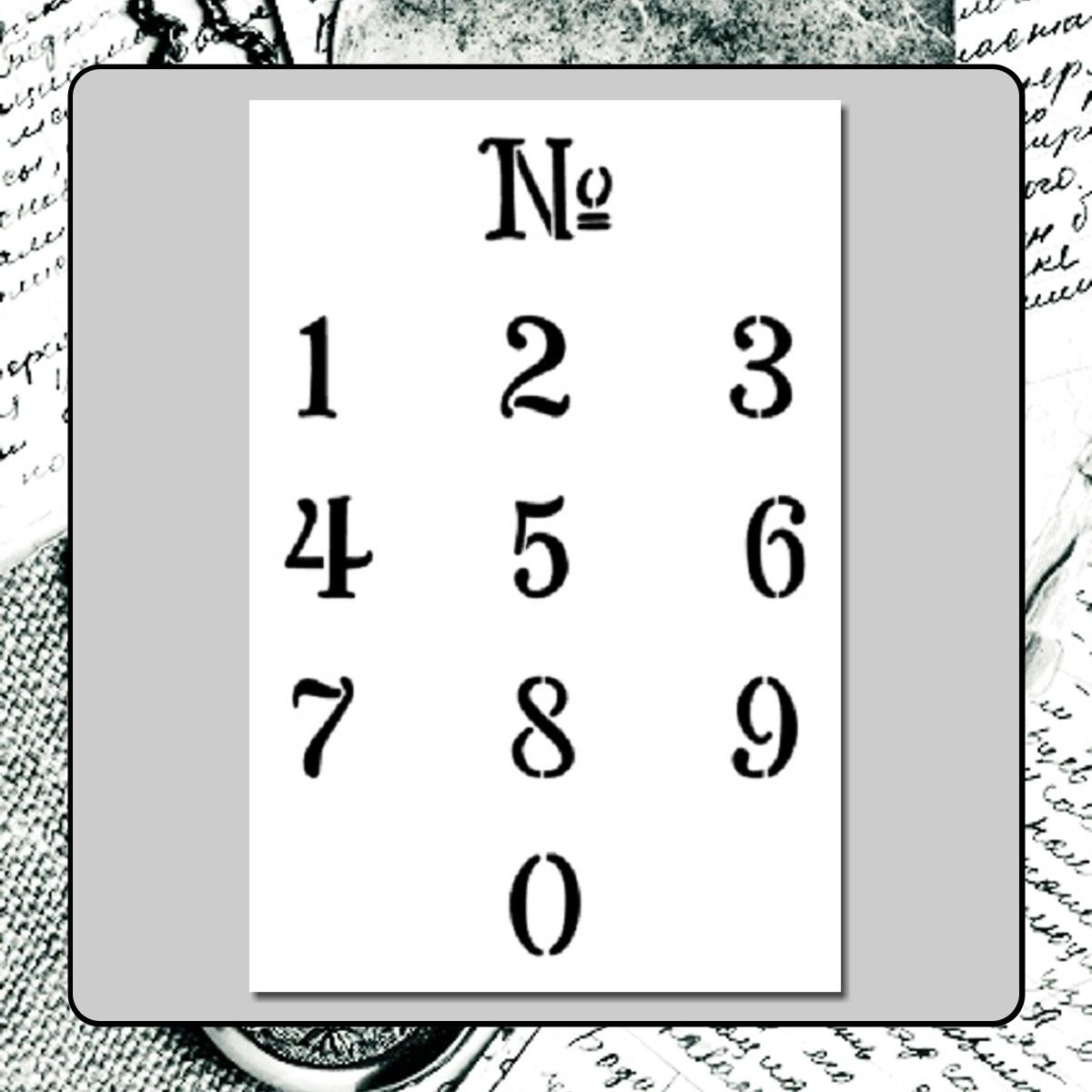 9 99 1 Inch French Numbers Craft Stencil No 0 Vintage Sign Travel Address Reusable Ebay Home Garden Stencil Crafts Vintage Signs French Numbers