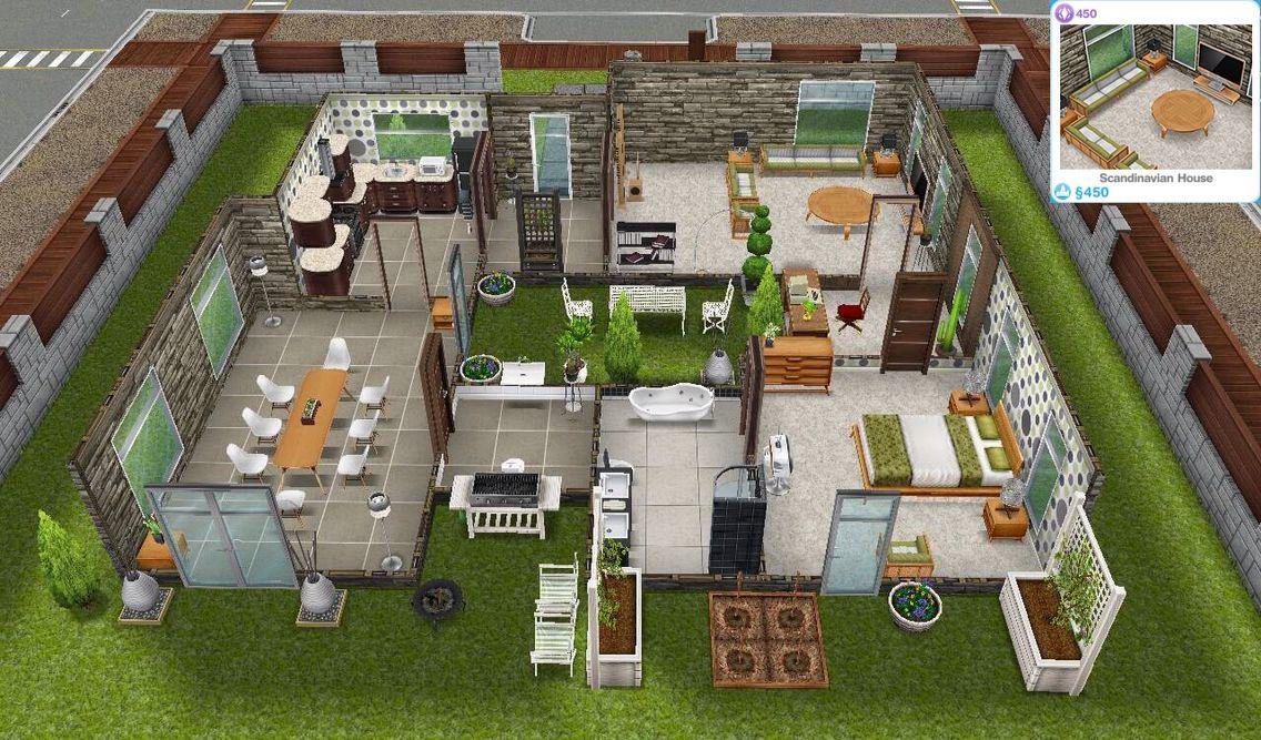 Scandinavia Sims Freeplay House Sims House Sims House Design Sims Freeplay Houses