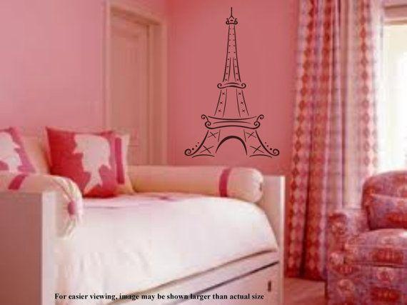 Paris Eiffel Tower Vinyl Wall Art Graphics Decal by InfinityDecals ...