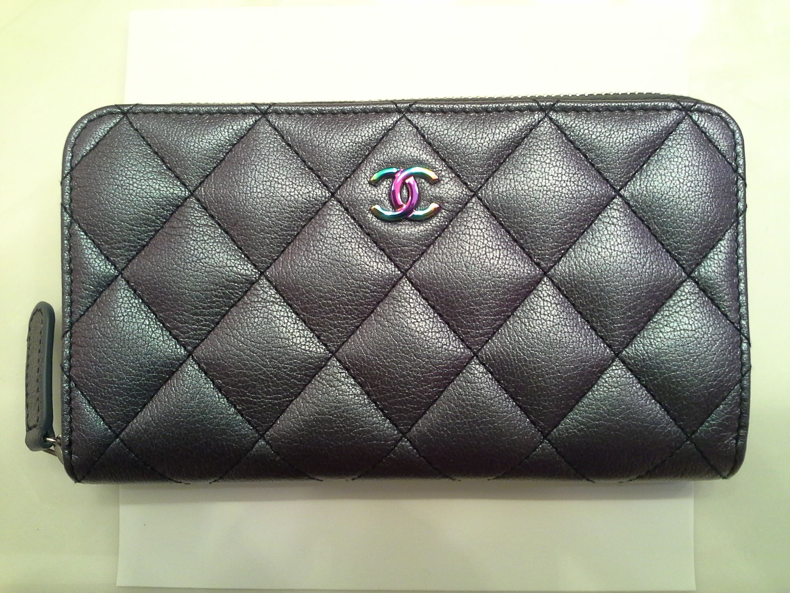 1663356766d6 Chanel Iridescent Small Zip Wallet | My Handbags | Chanel cruise ...