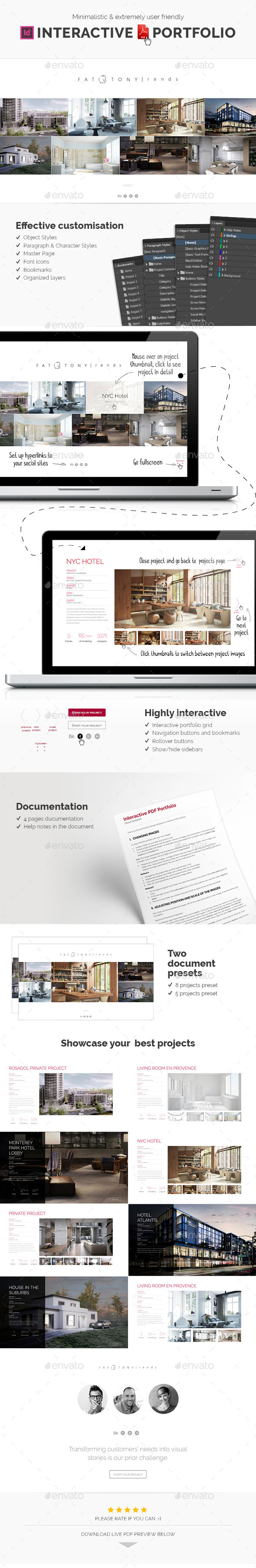 interactive pdf portfolio template design download http