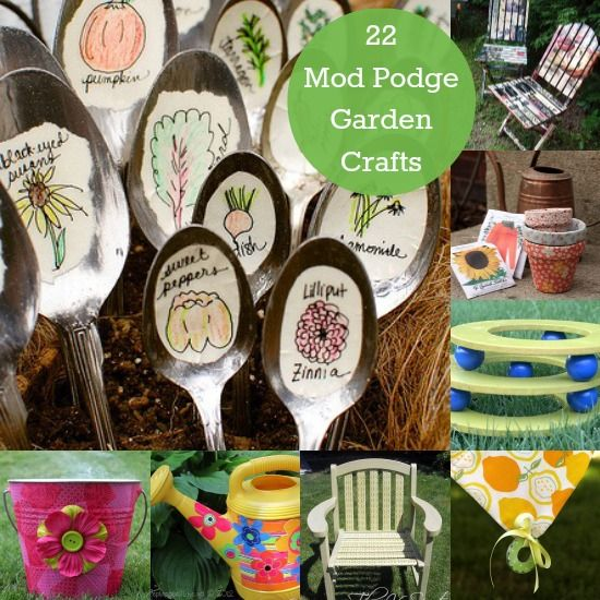 Unique Garden Crafts Made with Mod Podge #gardencraft