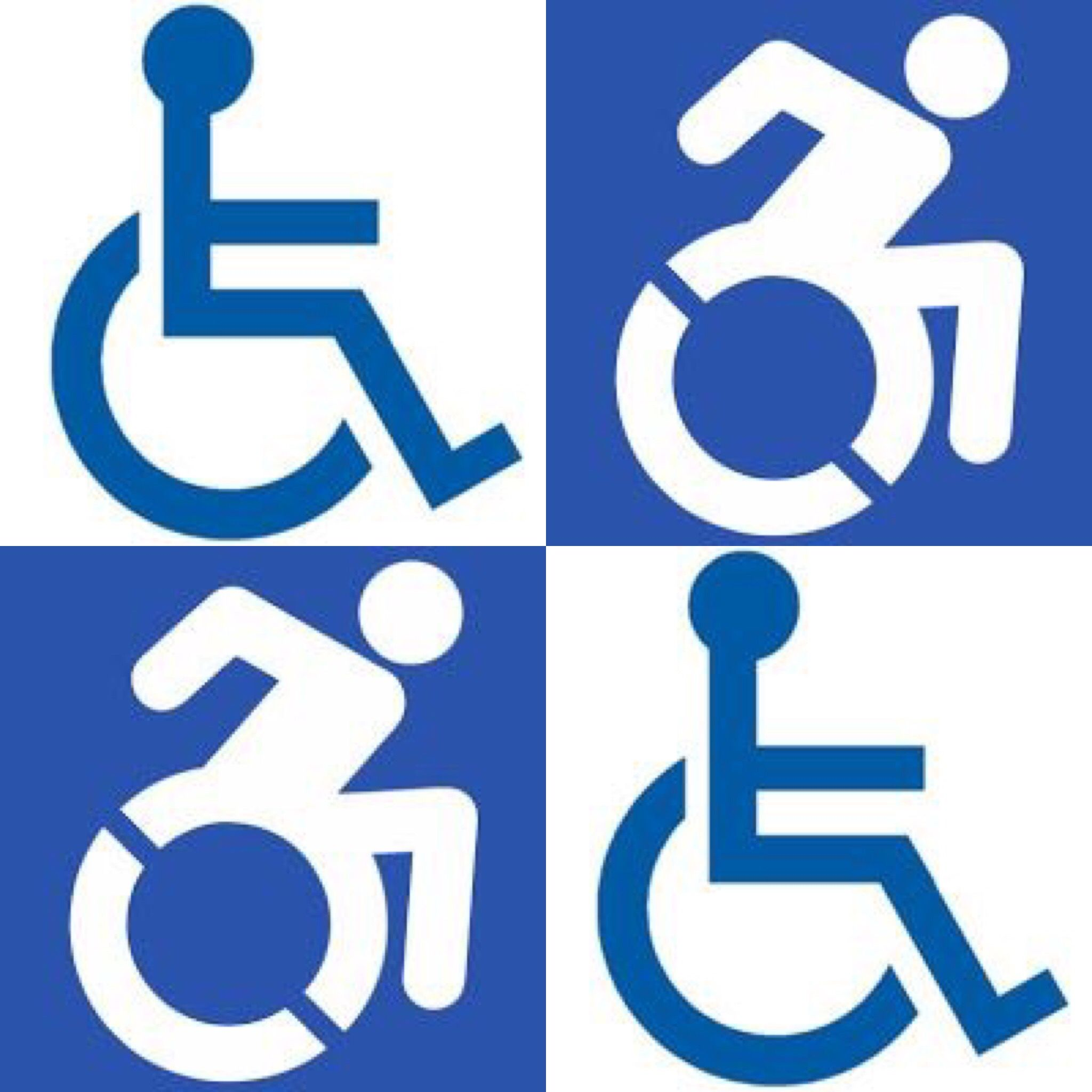 Old And New Disability Symbols More Pins Like This One At