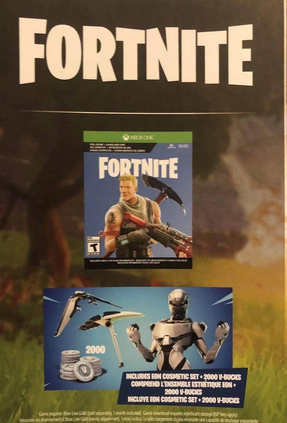 Fortnite Xbox One Redeem Code Dlc Eon Cosmic Set 2000 Free V -