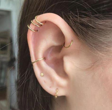 Sunflower Earrings Bridal Earrings Gold Drop Diamond Earrings Nature Inspired Jewelry #constellationpiercing