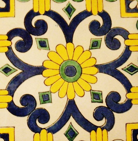 Hand Painted Italian Ceramic Tiles Mounted On Pressboard. FREE Ship. Pick one style. Tabletop. Large trivet. Set of 4. (16 X 16 inches)