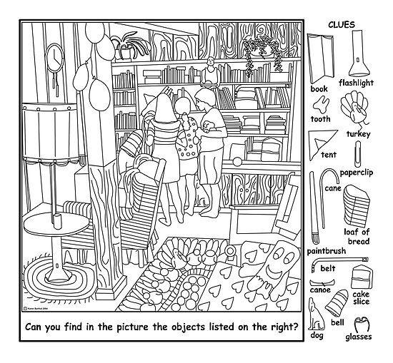 Printable Hidden Objects - CartoonRocks.com   Rejtett képek   Pinterest