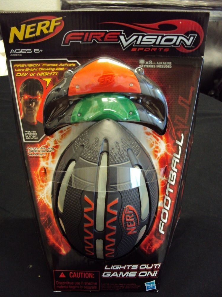 Nerf Fire Vision Sports Frames Activate Ultra-Bright Glowing Ball ...
