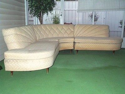 Mid Century Curved Couch Howard Skyline Parlor Furniture Sofa