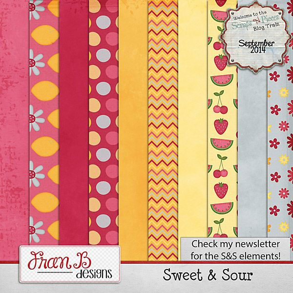 FREE Sweet & Sour By Frans Designs - SNP Blog Train [ more than 25 designers ]