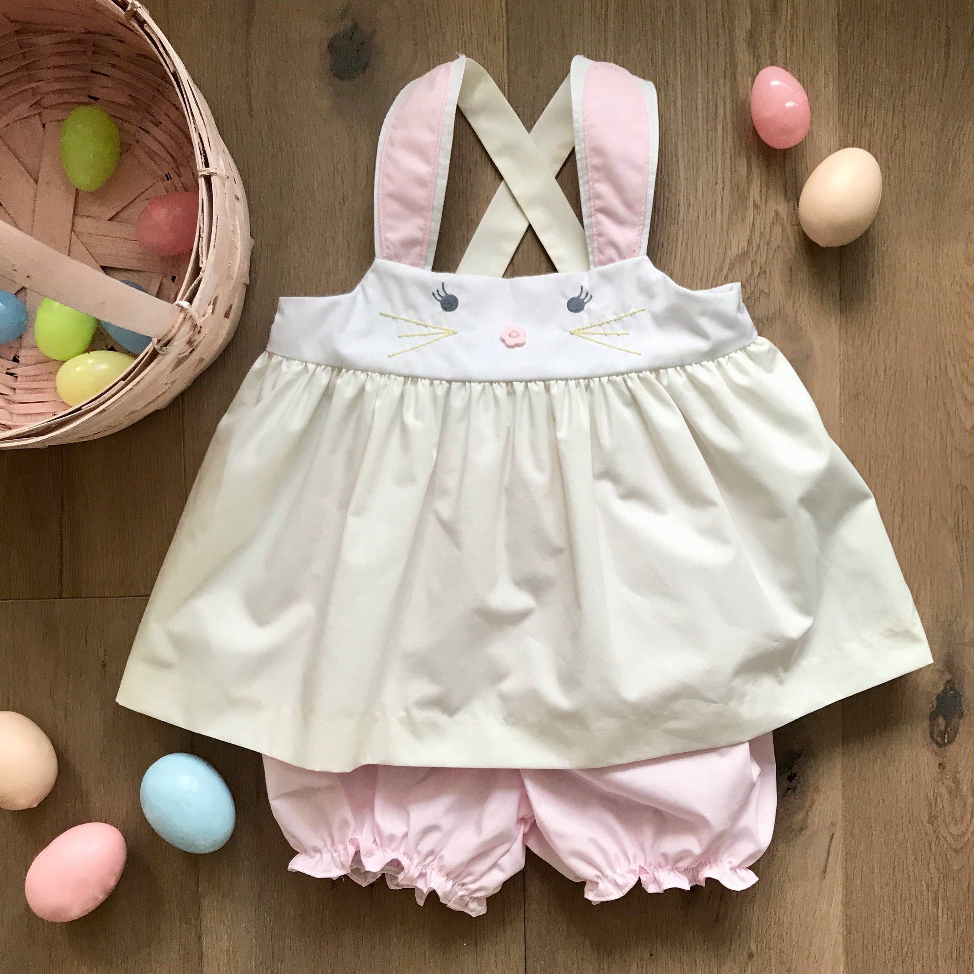 ce835fba39e1a Nancy's Novelty Set - Bunny Top with Plantation Pink Bloomers - The  Beaufort Bonnet Company
