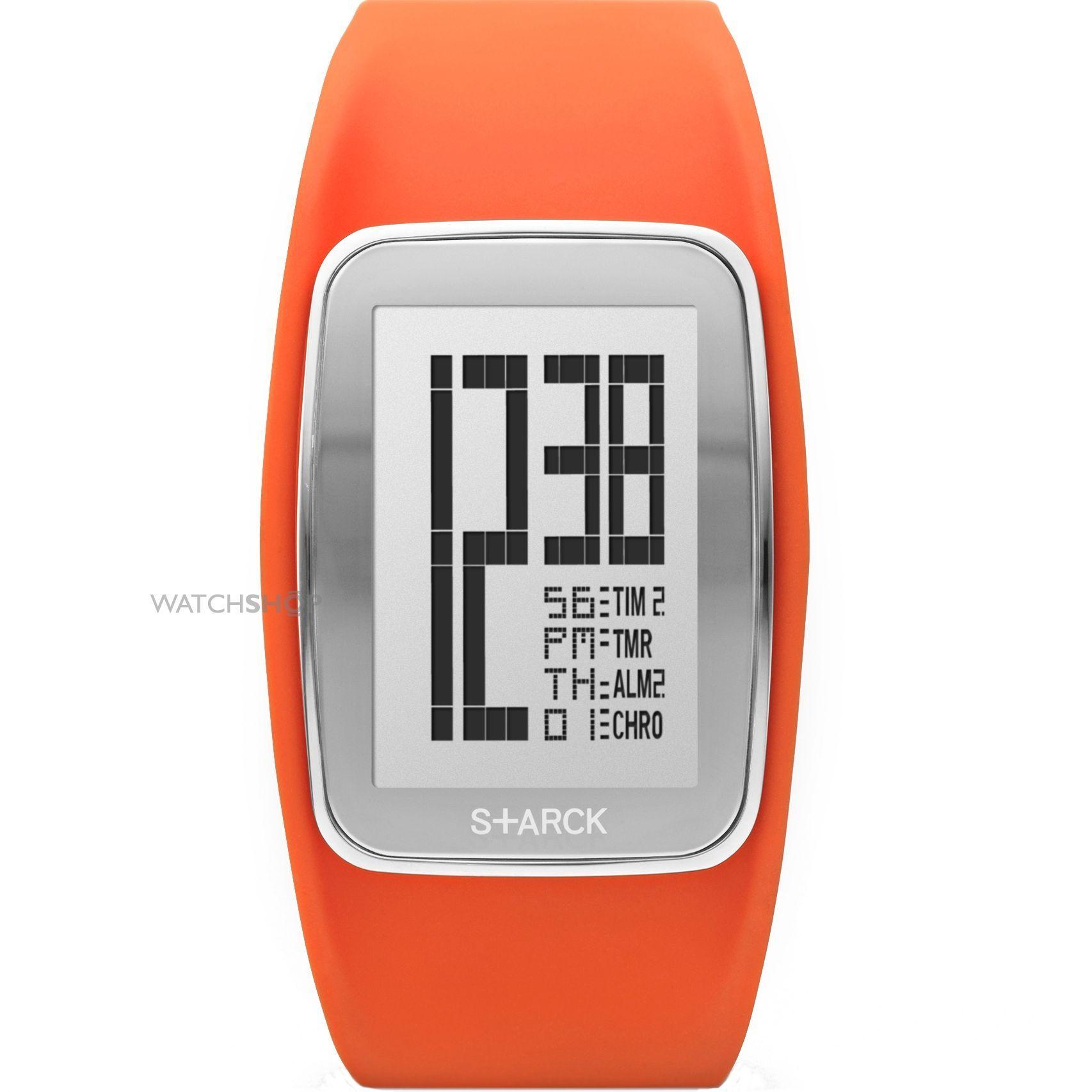 midsize philippe starck alarm chronograph watch ph1123