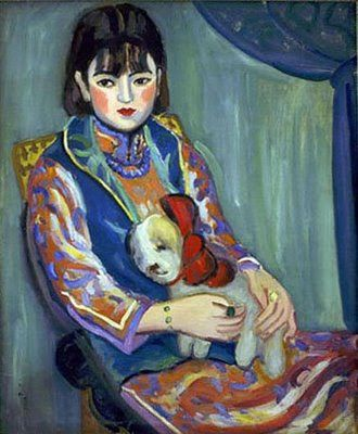 Portrait of Miss L (1929) femmes artistes peintres women artists painters : 1903 Zilan Guan