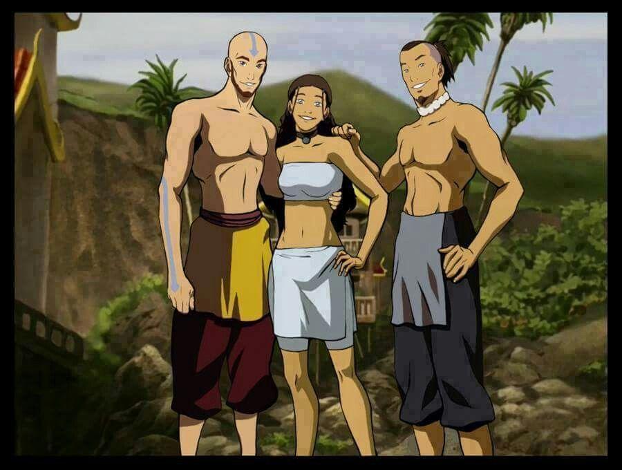 Aang, Katara and Sokka