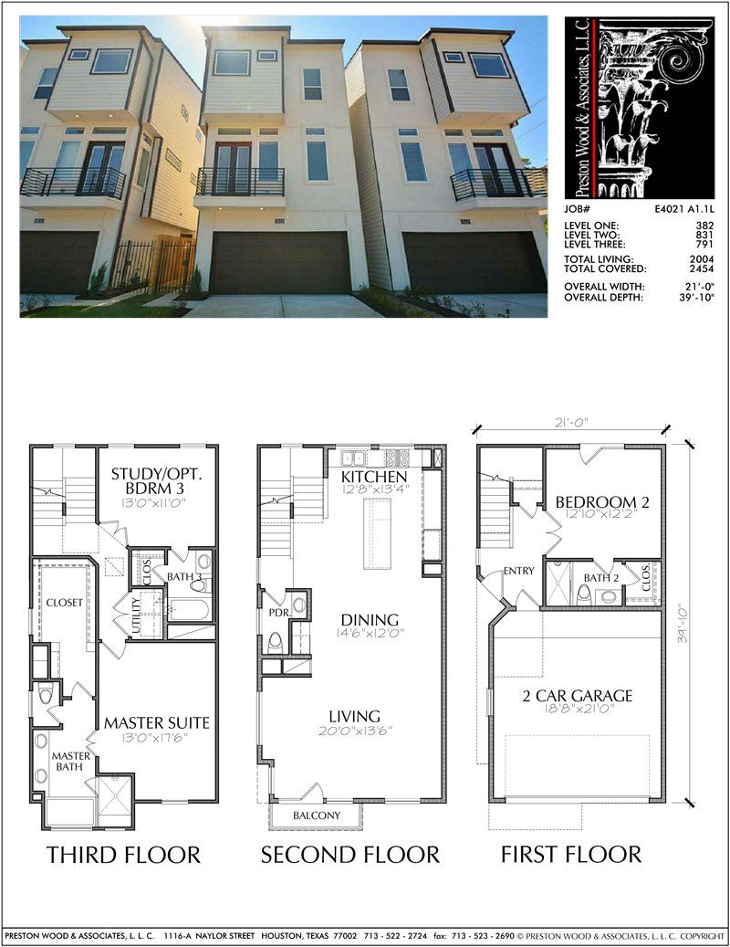 New townhomes plans narrow townhouse development design brownstones preston wood associates
