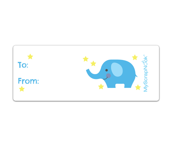 Free Mailing Label Template Download This Boy Baby Blue Elephant Mailing Label And Other Free .