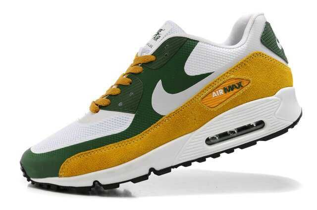 buy popular 226ec db90b 1767   Nike Air Max 90 Herr Dam Herr Grön Vit Khaki SE468828euEYIGH