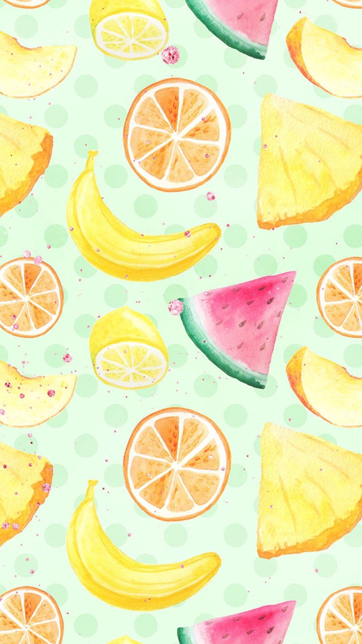 Wallpaper Iphone 背景 In 2019 Summer Wallpaper Food Wallpaper